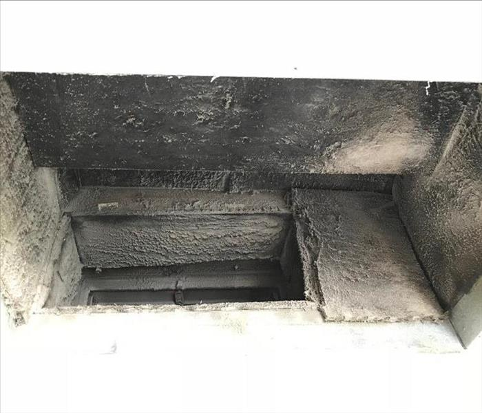 Dirty Ducts in Commercial Building in Randolph, Ma Before