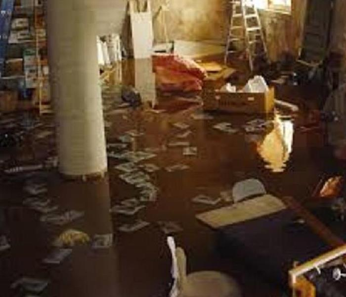 Storm Damage Water in the basement in Braintree MA